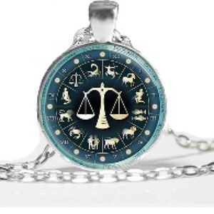 NEW Libra Astrology Sign Necklace Pendant